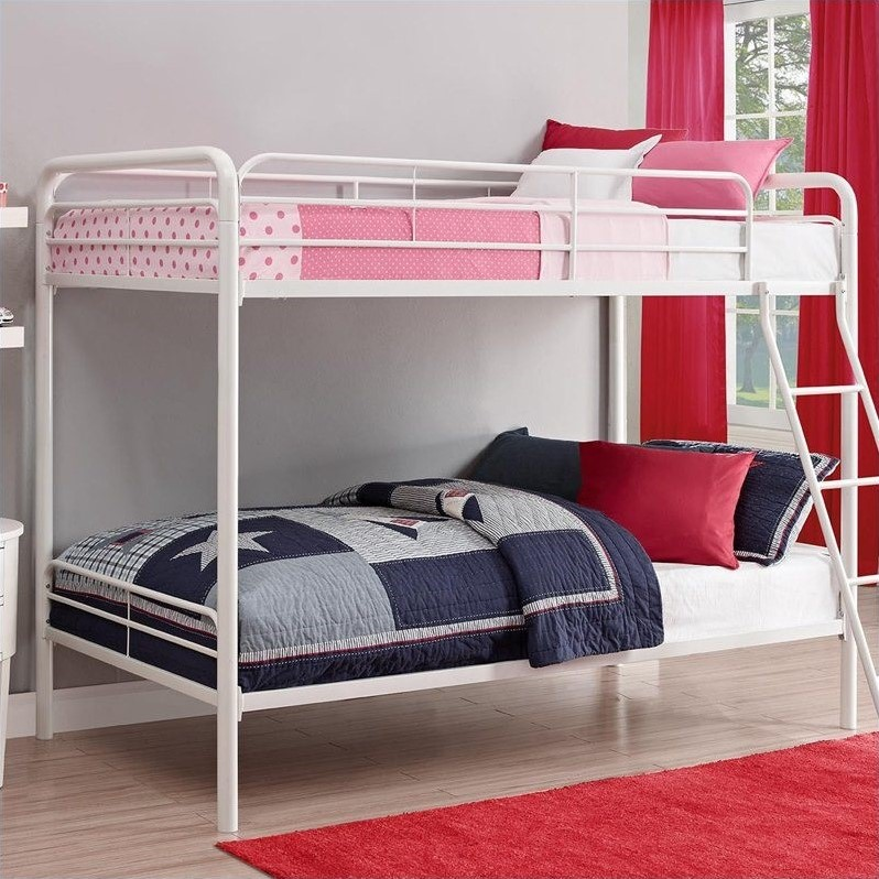 Metal Bunk Bed In White 3135096 Option