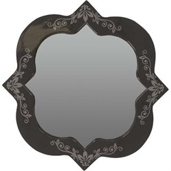 Surya Avanti Square Wall Mirror in Navy and Gray