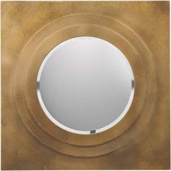 Surya Square Wall Mirror in Brilliant Gold