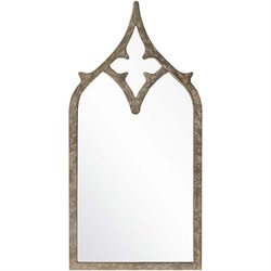 Surya Wall Mirror in Weathered Pewter