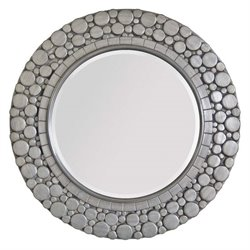 Surya Round Wall Mirror in Silver
