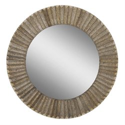 Surya Round Wall Mirror in Bronze