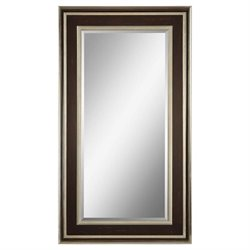 Surya Wall Mirror in Brown and Silver