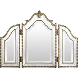 Surya Sylvia Wall Mirror in Antique Silver