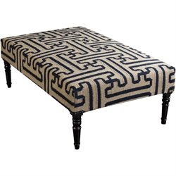 Surya Wool Bench in Navy and Olive