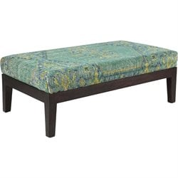 Surya Zahara Wool Bench in Teal