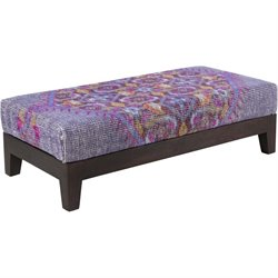 Surya Zahara Wool Bench in Purple