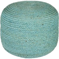 Surya Tropics Sphere Pouf Ottoman in Teal