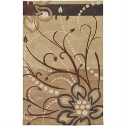 Surya Athena 5' x 8' Hand Tufted Wool Rug in Brown