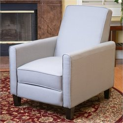 Trent Home Delouth Recliner Club Chair in Grey