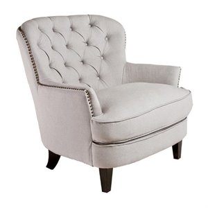 Trent Home Kennedy Accent Chair in Ivory