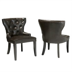 Trent Home Club Chairs in Chocolate Brown (Set of 2)