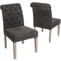 Trent Home Adrian Dining Chairs in Dark Grey (Set of 2)