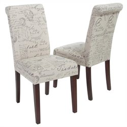 Trent Home Parisian Dining Chair in Beige (Set of 2)
