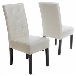 Trent Home Tara Dining Chair in Ivory (Set of 2)