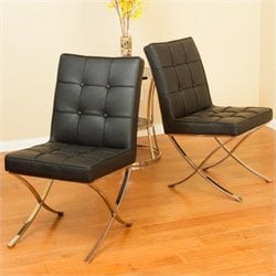 Noble House Esperanza Dining Chairs in Black (Set of 2)