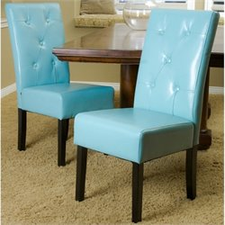 Trent Home Renoir Dining Chair in Teal Blue (Set of 2)