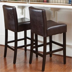 Noble House Rodriguez Bar Stools in Brown (Set of 2)