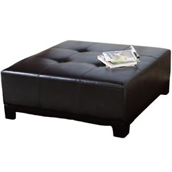 Trent Home Wells Ottoman in Brown