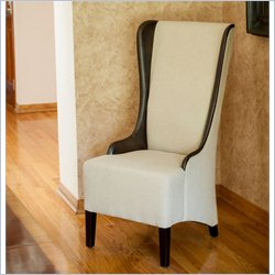 Trent Home Tournette High-back Chair in Beige and Brown