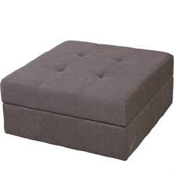 Trent Home Redondo Ottoman in Brown and Grey