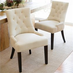 Trent Home Eric Dining Chair in Beige (Set of 2)