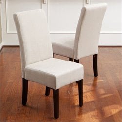 Trent Home Anthony T-stitch Dining Chairs in Natural (Set of 2)
