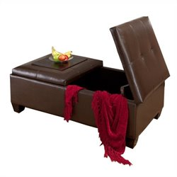 Trent Home Abe Storage Ottoman in Brown