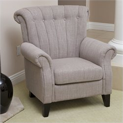 Trent Home Padilla Tufted Club Chair in Mocha