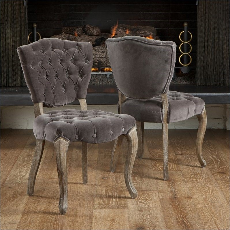 Room Store Chandler: Trent Home Chandler Dining Chairs In Charcoal (Set Of 2