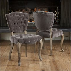 Noble House Chandler Dining Chairs in Charcoal (Set of 2)