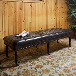 Noble House Spencer Ottoman Bench in Brown
