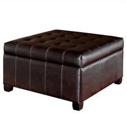 Trent Home Debra Storage Ottoman in Brown