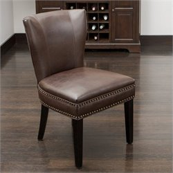 Noble House Thelma Accent Dining Chair in Brown