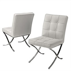 Trent Home Esperanza Dining Chairs in White (Set of 2)
