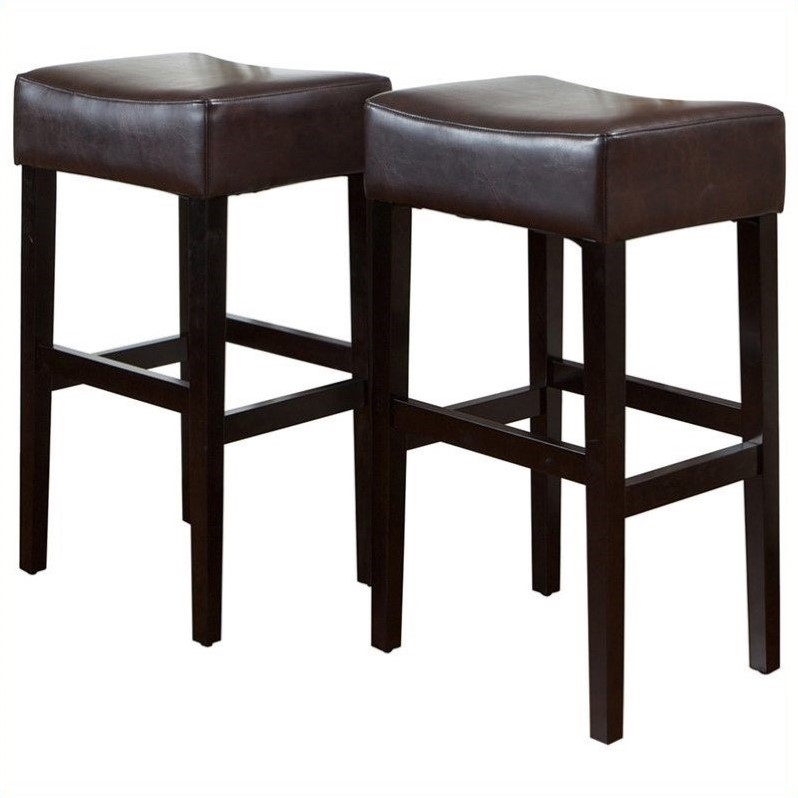 Trent Home 30 Rodriguez Backless Bar Stools In Brown Set Of 2