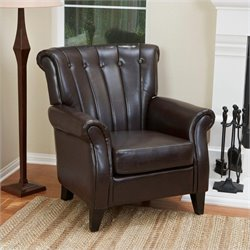 Trent Home Leather Club Chair in Brown