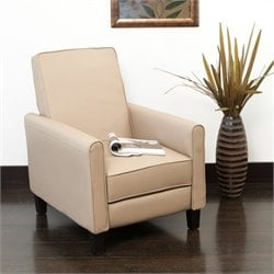 Trent Home Mellville Leather Recliner in Camel Tan