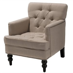 Trent Home Fabric Club Chair in Beige
