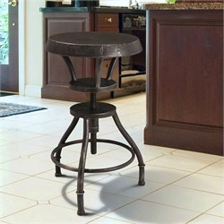 Noble House Bertha Rustic Top Bar Stool