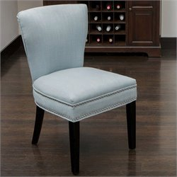 Noble House Johnathan Accent Dining Chair in Ocean Blue