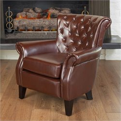 Noble House Orlando Club Chair in Brown