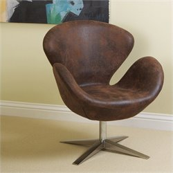 Trent Home Liza Modern Petal Chair in Brown