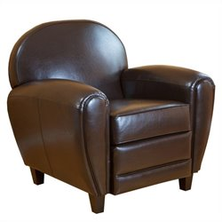 Trent Home Georgia Club Chair in Brown
