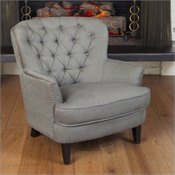 Noble House Kennedy Club Chair in Grey