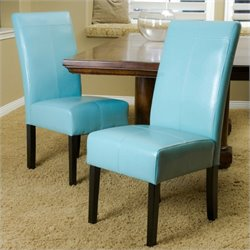 Trent Home Anthony Dining Chairs in Teal Blue (Set of 2)