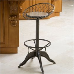 Noble House Olivia Bar Stool in Dark Silver