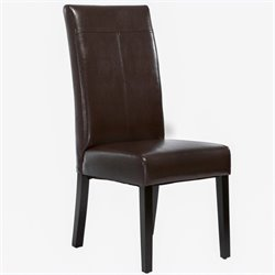Trent Home Anastasia Dining Chairs in Chocolate Brown (Set of 2)