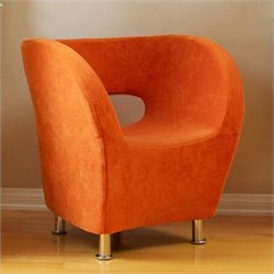 Noble House Colleen Modern Accent Chair in Orange