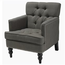 Trent Home Melissa Fabric Club Chair in Gray